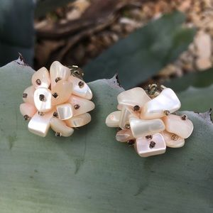 Vintage Glass Beaded Clip Ons-Japan
